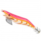 3.0# / 28 Wooden Lifelike Fishing Bait - Dark Pink + White