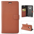 Protective Flip-open PU Leather Case for Nokia 1520 - Brown