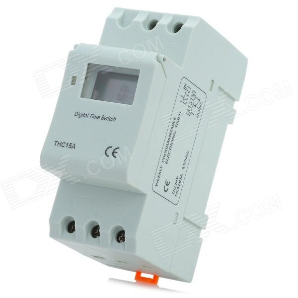 "THC15A 0.95"" LCD Mini Multifunctional Power Timing Switch - Grayish White (DC 24V)"