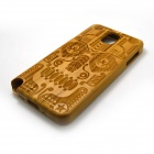 ZY-123 Detachable Protective Bamboo Back Case for Samsung Galaxy Note 3 N9000 - Yellow