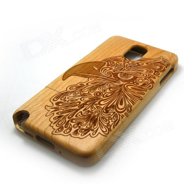Carved Birds on Tree Pattern Protective Wooden Back Case for Samsung Galaxy Note 3 N9000 - Wood