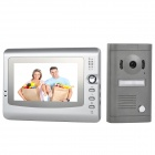 "V7C-P1 7"" TFT Color Screen 200KP Hands-Free Visible Doorbell - Silver + Grey (EU Plug)"