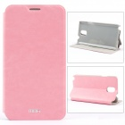 MOFI PR-3-003 Protective PU Leather Case Cover w/ Stand for Samsung Note 3 N9000 - Pink