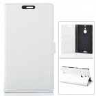 Stylish Protective PU Leather Case for Nokia Lumia 1520 - White