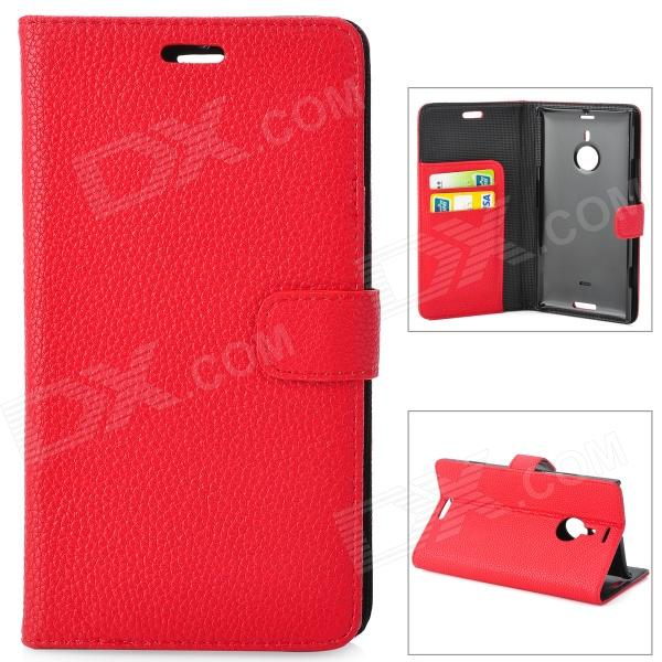 Protective Flip-open PU Leather Case for Nokia 1520 - Red
