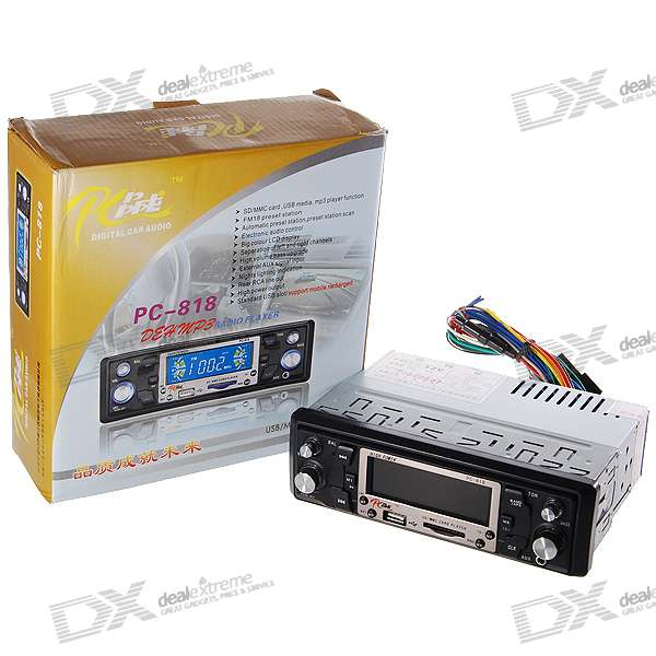 "In-Dash Stereo 3.0"" LCD SDHC/SD MP3 Player + AM/FM Radio with USB Host"