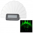 Creative Message Board Desk Clock w/ Highlighter - Transparent + Black (Green Light / 3 x AAA)