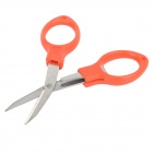 Folding Scissors Fish Tool for Cutting Fishing Line - Red + Silver