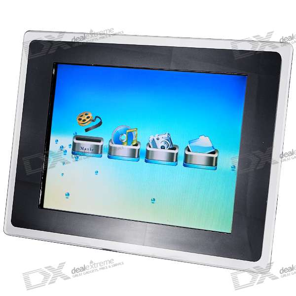 """12"""" TFT LCD CF/SM/SD/MS/MMC/XD Digital Photo Frame and Video Player (1024*768px)"""