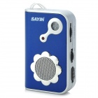 SAYIN SY-771 AM / FM Radio w/ Built-in Speaker - Blue + Silver (2 x AAA)
