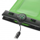"IPX8 Protective Waterproof Bag w/ Compass for 5.5"" Cell Phone - Green"