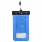 "IPX8 Protective Waterproof Bag w/ Compass for 5.5"" Cell Phone - Blue"