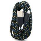 USB Male to Micro USB Male Knitted Housing Data Sync & Charging Cable for Google NEXUS 7 / 7 II