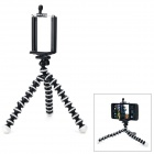 Convenient Mini Octopus Style Tripod for 6.5~9.8cm Wide Cellphone / Camera - Black + White