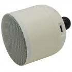 FJY-B118 Bluetooth V3.0 + EDR 2.1-Channel Super Bass Speaker w/ Car Holder - White + Yellow