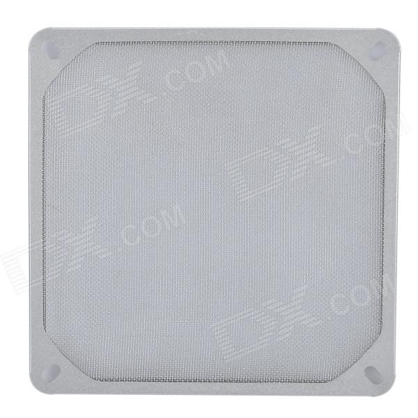 14cm Aluminum Computer Dustproof Fan Filter - Silver qqv6 aluminum alloy 11 blade cooling fan for graphics card silver 12cm