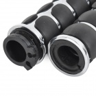 25mm Motorcycle Chrome Sharp Hand Grips for Harley - Black + Silver (2 PCS)