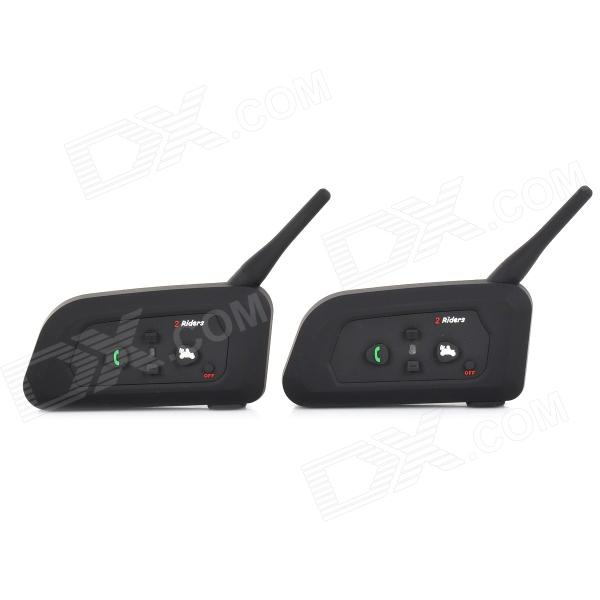 V2-500C Bluetooth V3.0 casco de la motocicleta Interphone - Negro