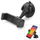 JX1-030 360 Degree Rotatable Suction Cup Mount Holder w/ Suction Cup for Cellphone / GPS - Black