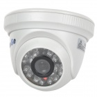 "YanSe YS-8813CDW 1/4"" CMOS 800TVL CCTV Dome Camera w/ IR-Cut / 24-LED Night Vision - White"