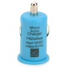 A008 Mini Car Cigarette Powered USB Charging Adapter - Blue