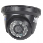 "YanSe YS-8813CDB 1/4"" CMOS 800TVL Dome CCTV Camera w/ IR-Cut / 24-LED Night Vision - Black"