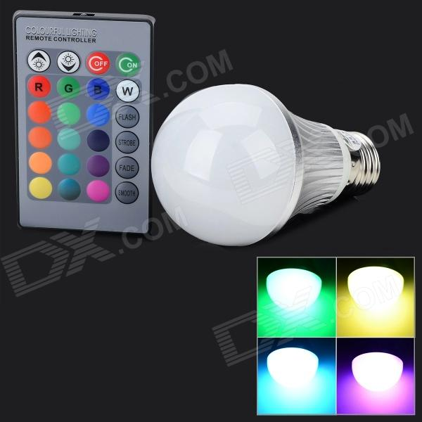 Zweihnder WMX10 E27 5W 300lm 1-LED RGB Light Bulb - Silver + White (AC 85~265V) jr led e27 10w 500lm led rgb light bulb w remote control white silver ac 85 265v