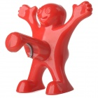 Creative Happy Man Style ABS + Stainless Steel Bottle Opener - Red