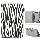 Protective Zebra Patterned PU Case w/ Holder for Samsung Galaxy Tab 2 7.0 P3100 - Black + White