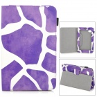 Protective Patterned PU Leather Case w/ Holder for Samsung Galaxy Tab 2 7.0 P3100 - Purple + White