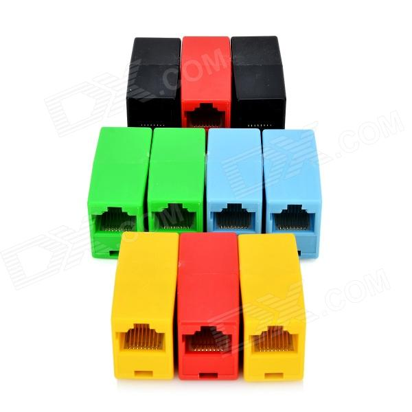 RJ45 Female to Female Socket Adapters - Multicolored (10 PCS)