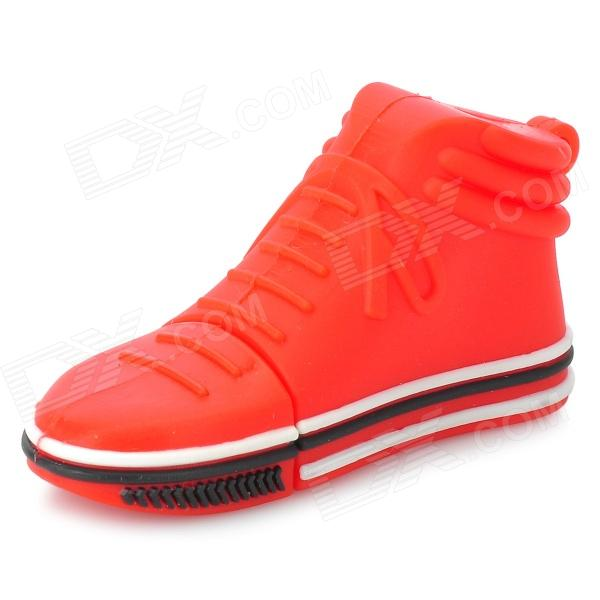 Mini Shoe Style USB 2.0 Flash Drive Disk - Red + White (64GB)