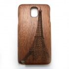 Eiffel Tower Style Detachable Protective Wooden Back Case for Samsung Galaxy Note 3 N9000 - Pecan