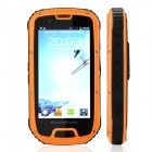"GENIESSEN IP68 Modische Quad-Core-Android 4.2 WCDMA Bar Telefon w / 4,3 ""TFT, Kamera, Wi-Fi - Orange"