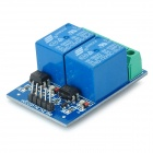 EL817 2-Way Opto-isolator Type Relay Module - Deep Blue (12V / 10A)