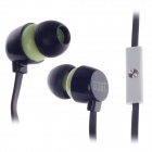 GJBY Gj-1809 Stylish Stereo Bass In-Ear Earphones for Cell Phone / IPHONE - Black (3.5mm Plug)