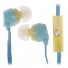 GJBY Gj-1809 Stylish Stereo Bass In-Ear Earphones for Cell Phone / IPHONE - Blue (3.5mm Plug)
