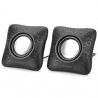 R-XIAO LS186 USB Powered Stereo Speakers - Black (2 PCS)