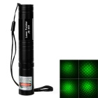 5mW 532nm Starry Sky Green Laser Pointer w / LC16340 baterie + nabíječka - Black