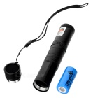 5mW 532nm Starry Sky Green Light Laser Pointer w/ LC16340 Battery + Charger - Black