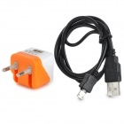 AC EU Plug Power Adapter + Micro USB Male to USB 2.0 Male Data Charging Cable  for Sony / HTC
