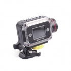 ESER F24 HD 2.0 MP CMOS Portable Outdoor Sport Waterproof Camcorder - Black + Silver