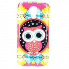 Cute Owl Pattern Plastic Back Case for Samsung Galaxy S4 Mini - Red + Multicolored