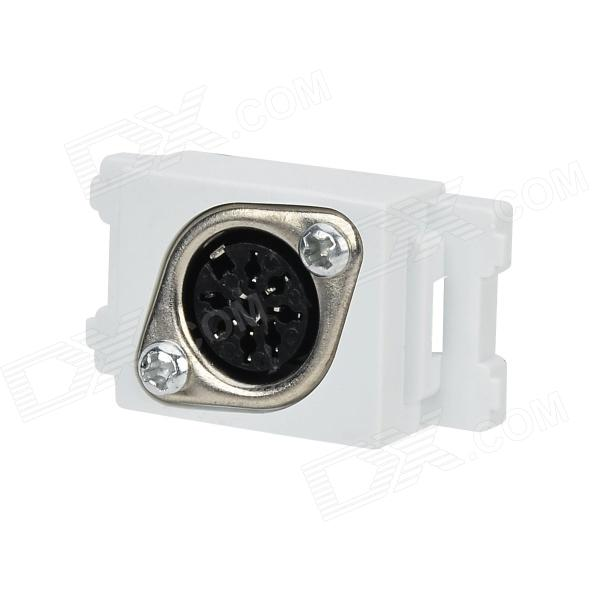 8-Core Hand in Hand Conference Microphone Power Socket Module - White + Black