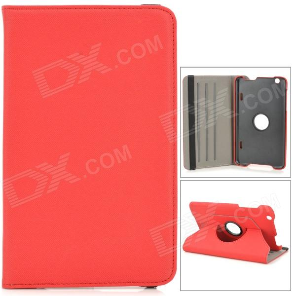 Protective PU Leather Case w/ Holder + 360 Rotating Back for 8.3 LG V500 G Pad - Black + Red - DXTablet Cases<br>Color Red + Black Brand NO Model NO Quantity 1 Set Shade Of Color Red Material PU Compatible Brand OthersLG Compatible Size Others8.3inch Style BusinessCasual Compatible Model LG V500 G Pad Type Cases with StandLeather Cases Packing List 1 x Case<br>