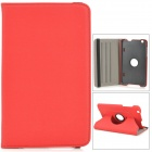 "Protective PU Leather Case w/ Holder + 360' Rotating Back for 8.3"" LG V500 G Pad - Black + Red"