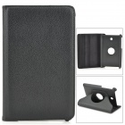 Protective PU Leather Case w/ Holder + 360' Rotating Back for ASUS 372 - Black