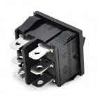 6-Pin 3-Mode Rocker Switch - Black (5PCS / 125~250V)