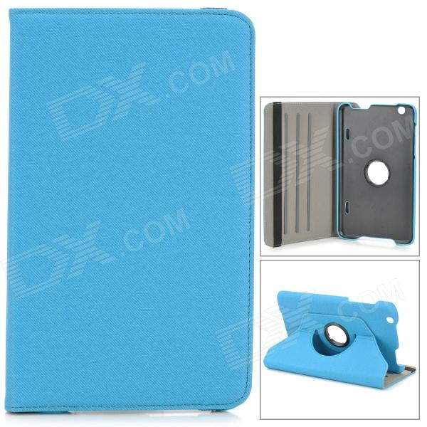 Protective PU Leather Case w/ Holder + 360' Rotating Back for 8.3 LG V500 G Pad - Blue 2pcs bag taiwan alpha rk12 potentiometer w50k 18mm axis