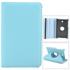 Protective PU Leather Case w/ Holder + 360' Rotating Back for ASUS 372 - Sky Blue